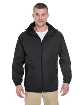 UltraClub 8908 Adult Microfiber Full-Zip Hooded Jacket