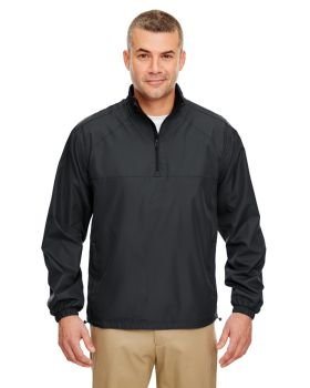UltraClub 8936 Adult Micro-Poly Quarter-Zip Wind Shirt