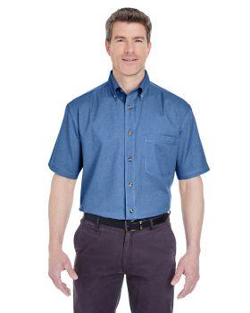 UltraClub 8965 Adult Cypress Short-Sleeve Denim with Pocket