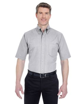 UltraClub 8972 Men's Classic Wrinkle Resistant Short Sleeve Oxford Shirt