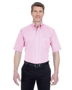 UltraClub 8972 Men's Classic Wrinkle Resistant Short Sleeve Oxford Shirt