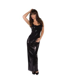 Underwraps UR29653SM Sequin Dress Long Black Ad Sm
