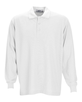 Vantage 2102 Long Sleeve Soft-Blend Double-Tuck Pique Polo