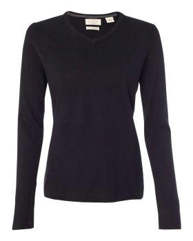 Weatherproof W151363 Vintage Women's Cotton Cashmere V-Neck Sweater