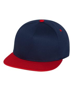 Yupoong 6007 Five-Panel Flat Bill Cap