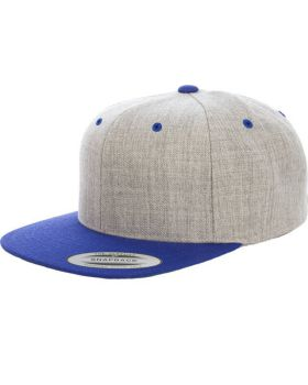 Yupoong 6089MT Adult 6-Panel Structured Flat Visor Classic Two-Tone Snap ...