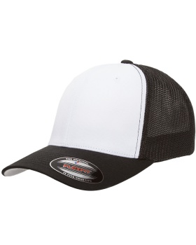 Yupoong 6511W Flexfit Trucker Mesh with White Front Panels Cap