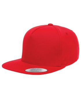 Yupoong Y6007 Adult 5-Panel Cotton Twill Snapback Cap