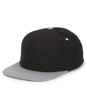 'Yupoong YP5089 Adult 5-Panel Structured Flat Visor Classic Snapback Cap'