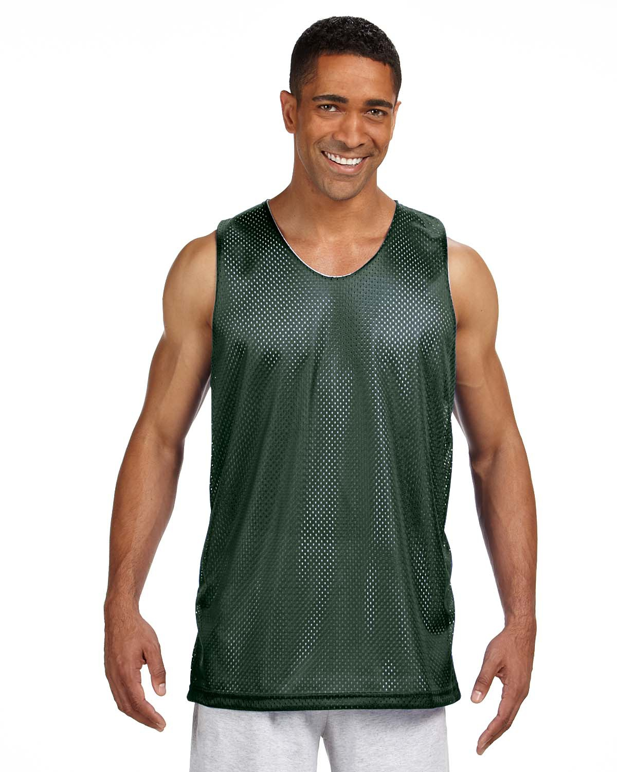 'A4 NF1270 Men's Reversible Polyester Mesh Tank Top'
