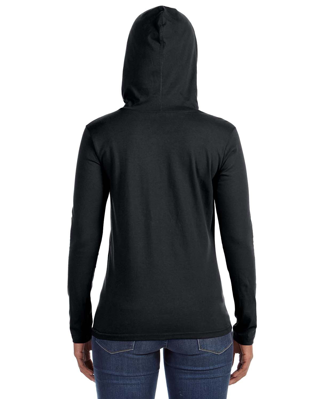 'Anvil 887L Ladies Ring Spun Cotton Long Sleeve Hooded T-Shirt'