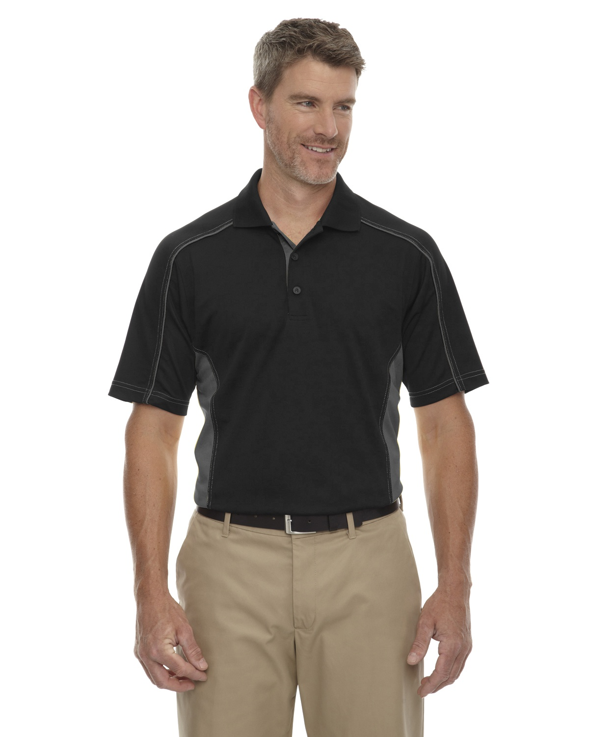 'Ash City - Extreme 85113T Men's Tall Eperformance Fuse Snag Protection Plus Colorblock Polo'