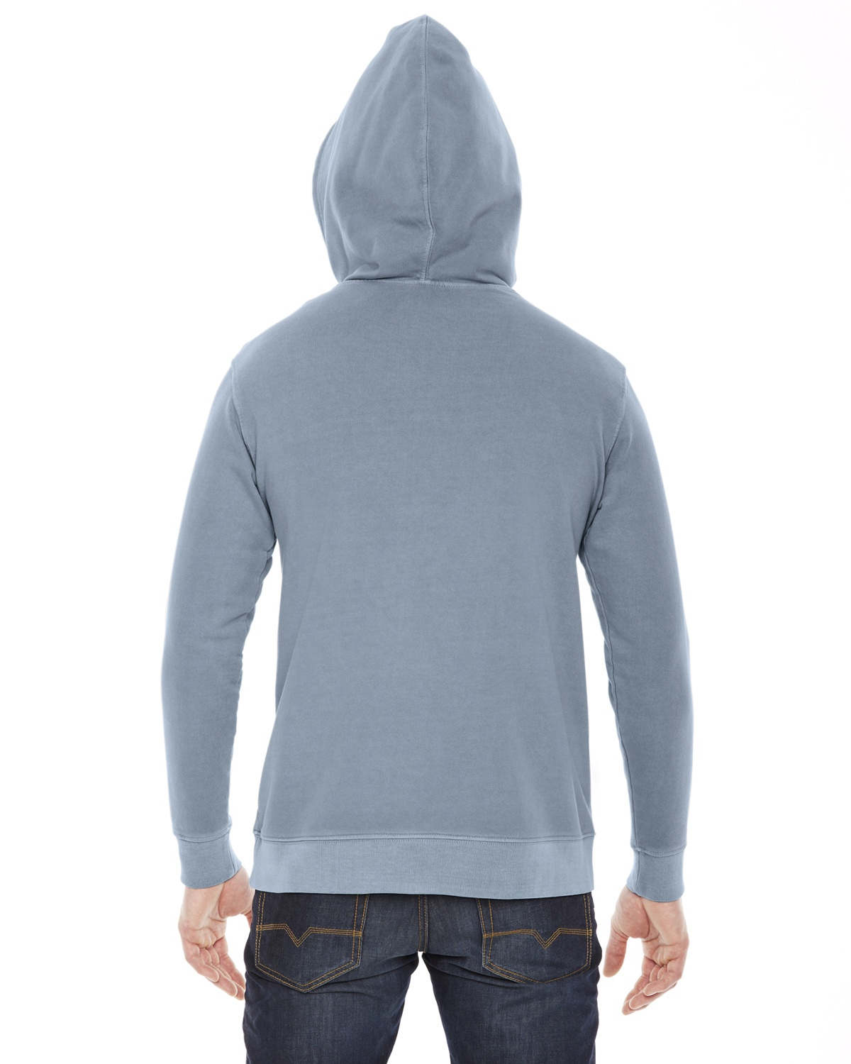 'Authentic Pigment AP207 Men Unisex French Terry Hoodie'