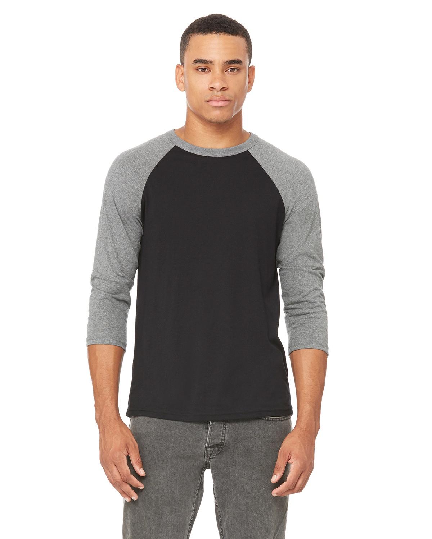a5f6e1d3 4 Reviews.. Bella Canvas 3200 Unisex 3/4-Sleeve Baseball T-Shirt