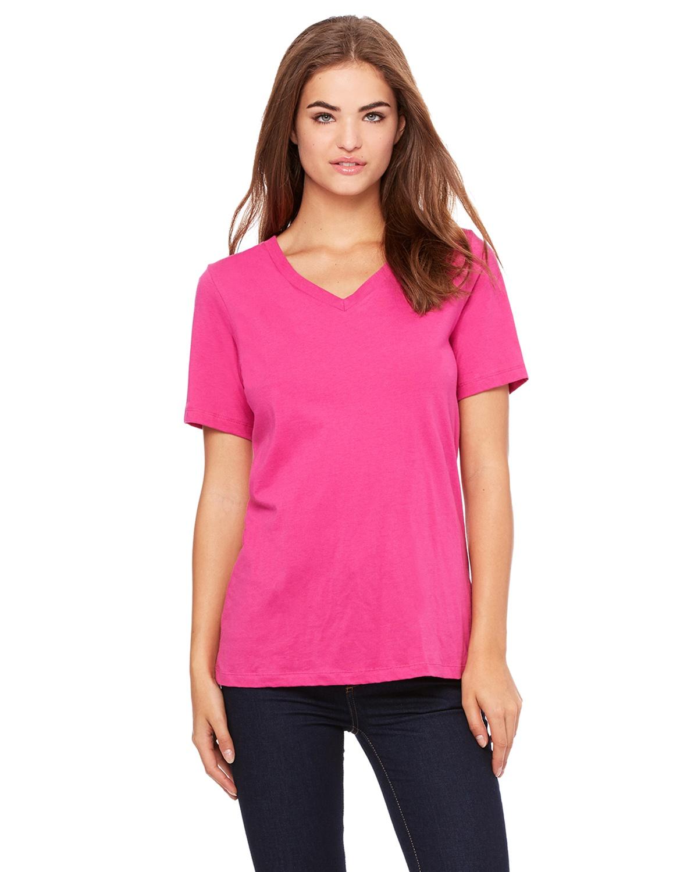 16ca6da0 Bella Canvas 6405 | Buy Ladies Relaxed Jersey Short-Sleeve V-Neck T-Shirt -  VeeTrends.com