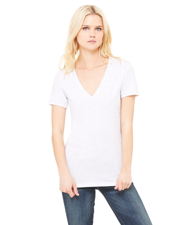 ebbbfb2f Bella Canvas B6035   Buy Ladies Jersey Short-Sleeve Deep V-Neck T ...