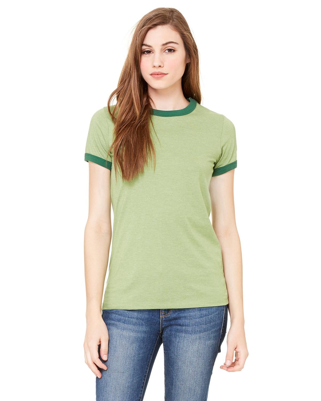 'Bella Canvas B6050 Ladies' Jersey Short-Sleeve Ringer T-Shirt'