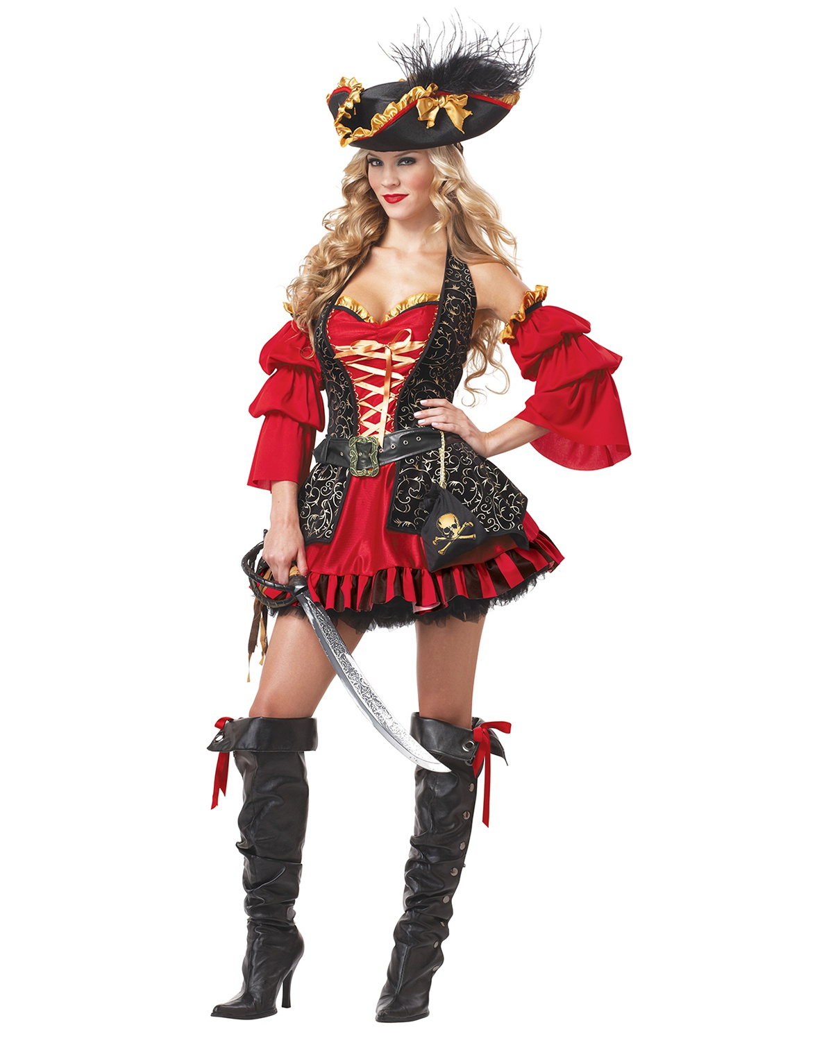 'California Costumes 01196 Eye Candy Spanish Pirate Adult Costume'