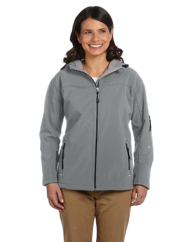 'Devon & Jones D998W Ladies' Soft Shell Hooded Jacket'