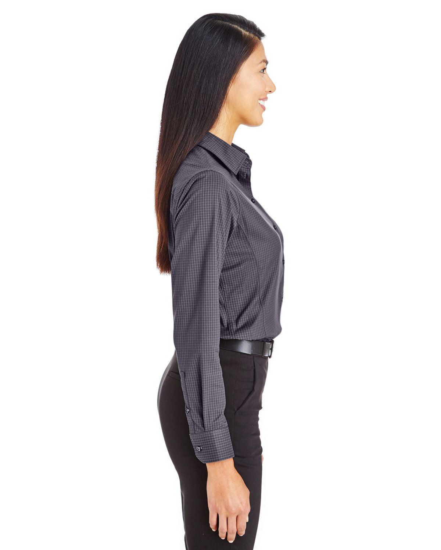 'Devon & Jones DG535W CrownLux Performance Ladies' Tonal Mini Check Shirt'