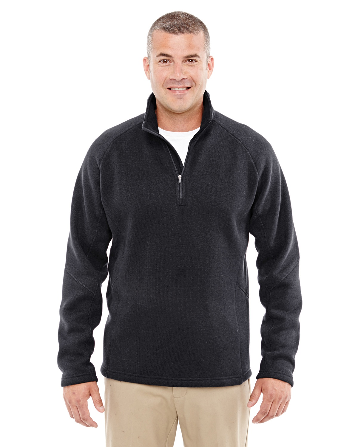 'Devon & Jones DG792 Adult Bristol Sweater Fleece Quarter-Zip'