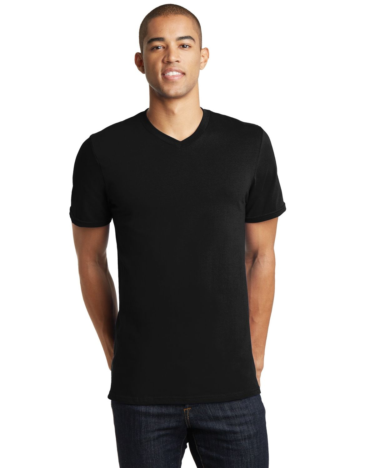 'District DT5500 Young Mens The Concert Tee V-Neck DT5500'