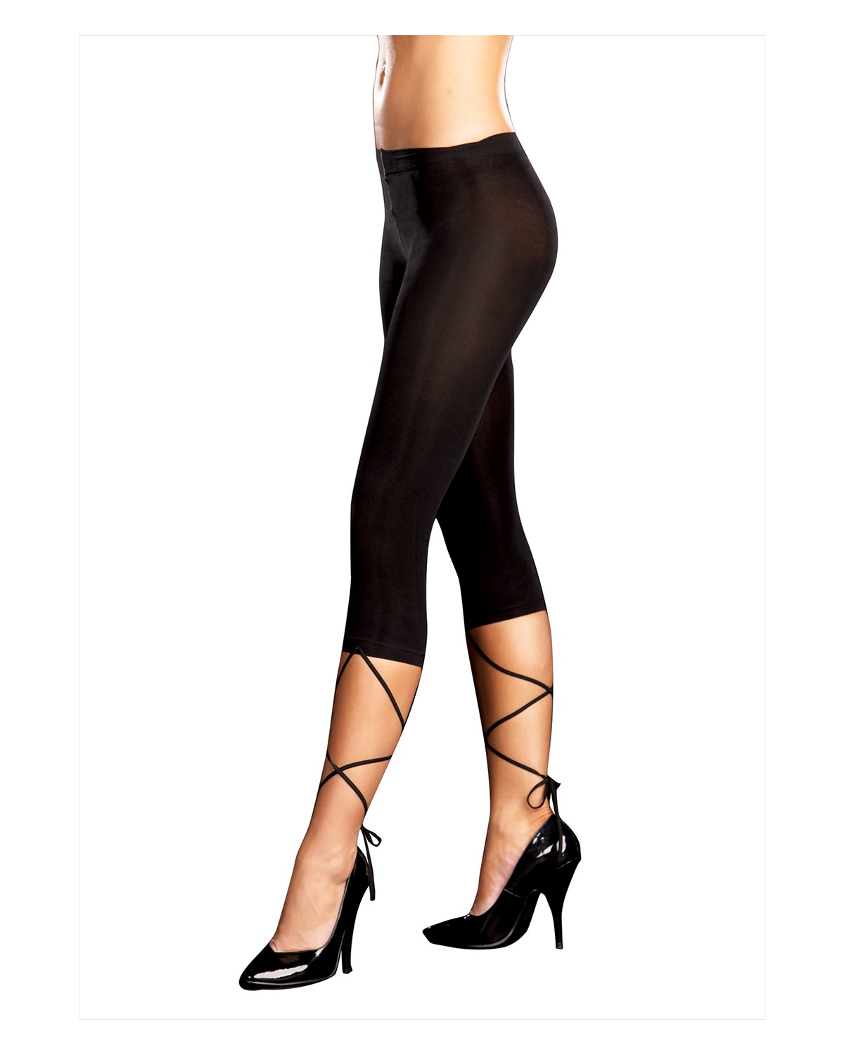'Dreamgirl RL0067SD Lace Down Legging S/M Size 2-8'