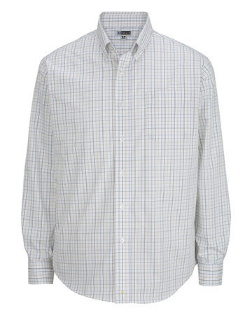 'Edwards 1973 Men's Tattersall Poplin Tall  Shirt'