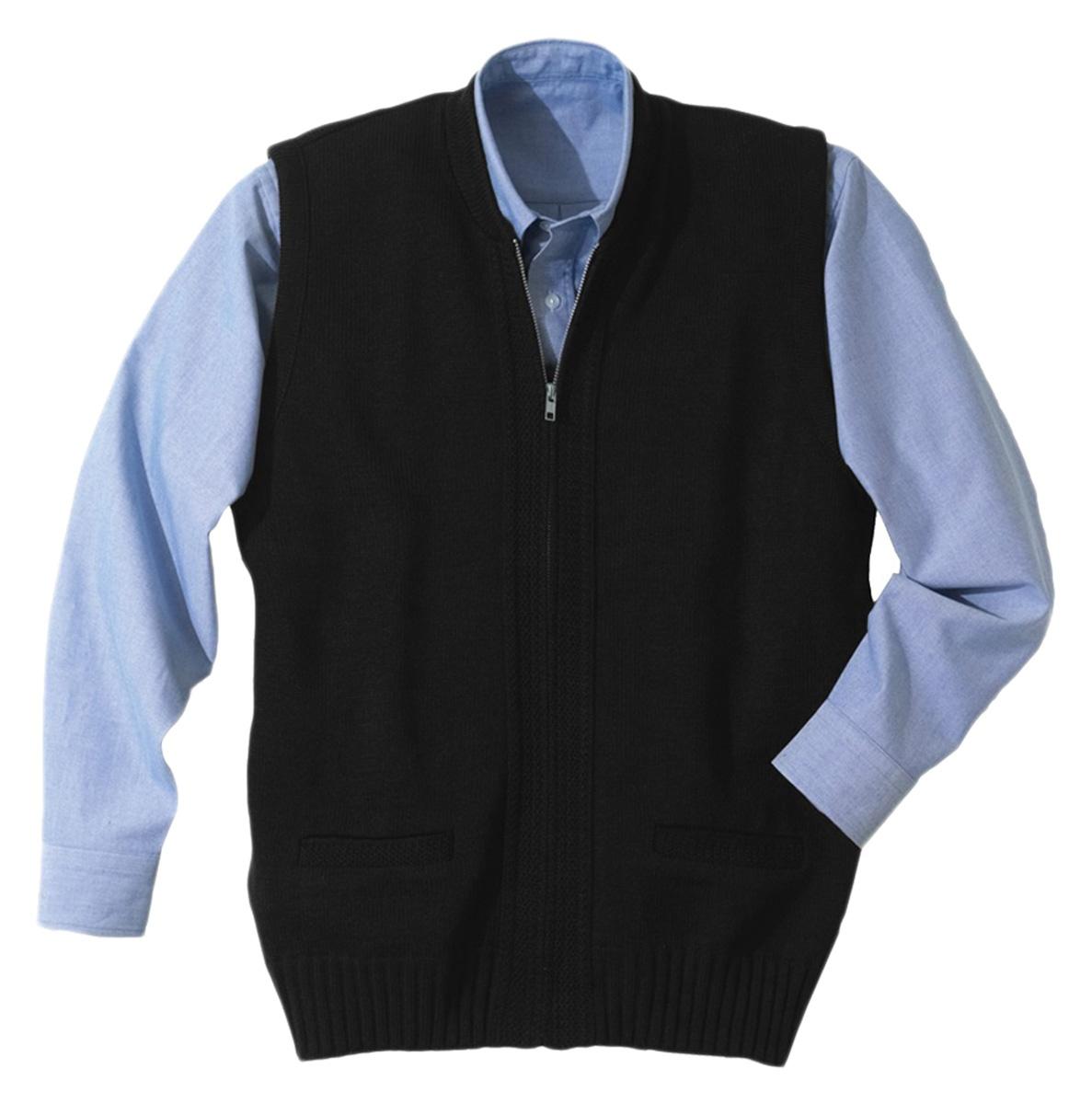 'Edwards 302 Full Zip Heavyweight Acrylic Sweater Vest'