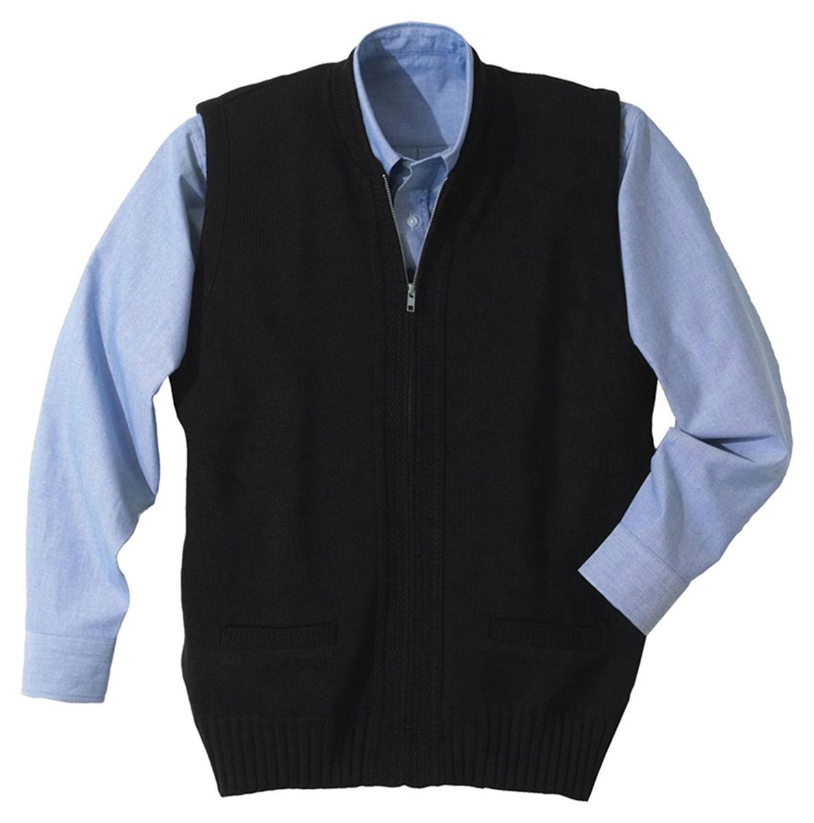 'Edwards 302 Full-Zip Heavyweight Acrylic Sweater Vest'