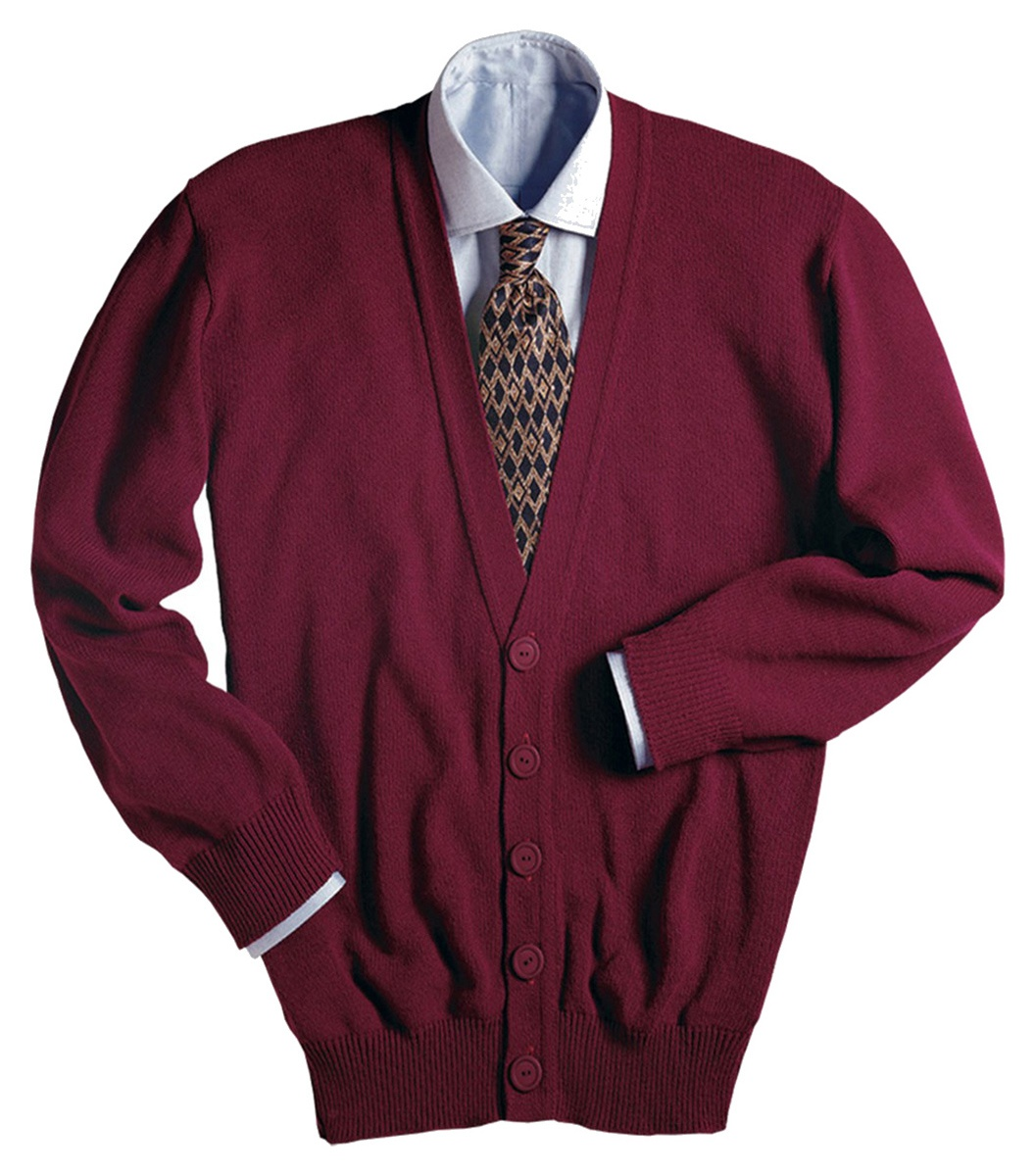 'Edwards 351 V-Neck Button Acrylic Cardigan Sweater'