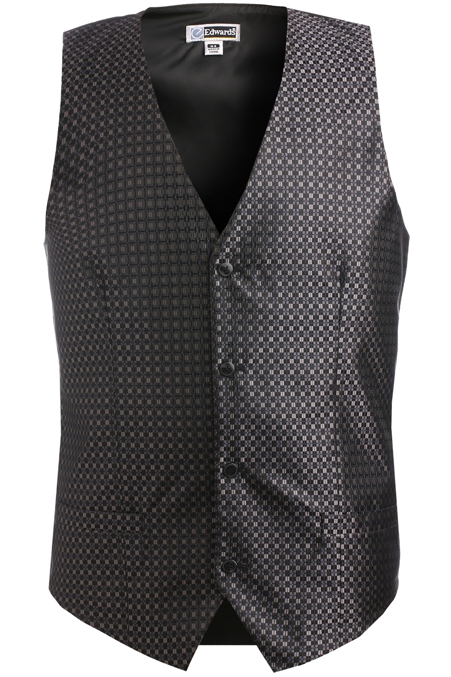 'Edwards 4396 Men's Grid Brocade Vest'