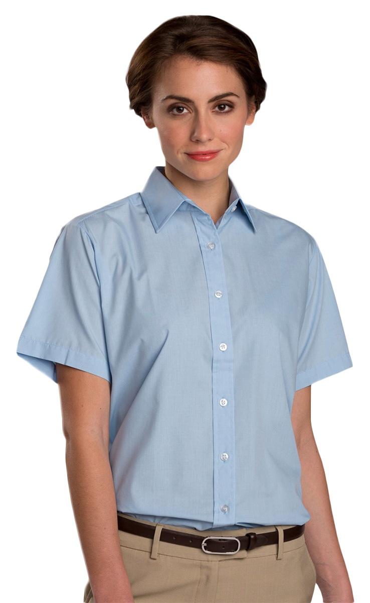 5a515583 Edwards 5313 Ladies' Short Sleeve Value Broadcloth Shirt - VeeTrends.com