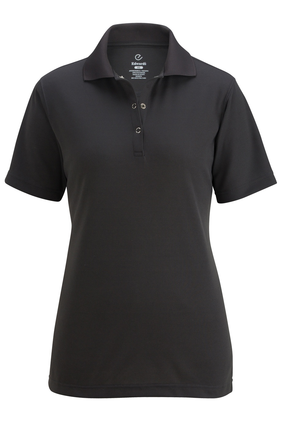 'Edwards 5586 Ladies' Snap Front Hi-Performance Short Sleeve Polo'
