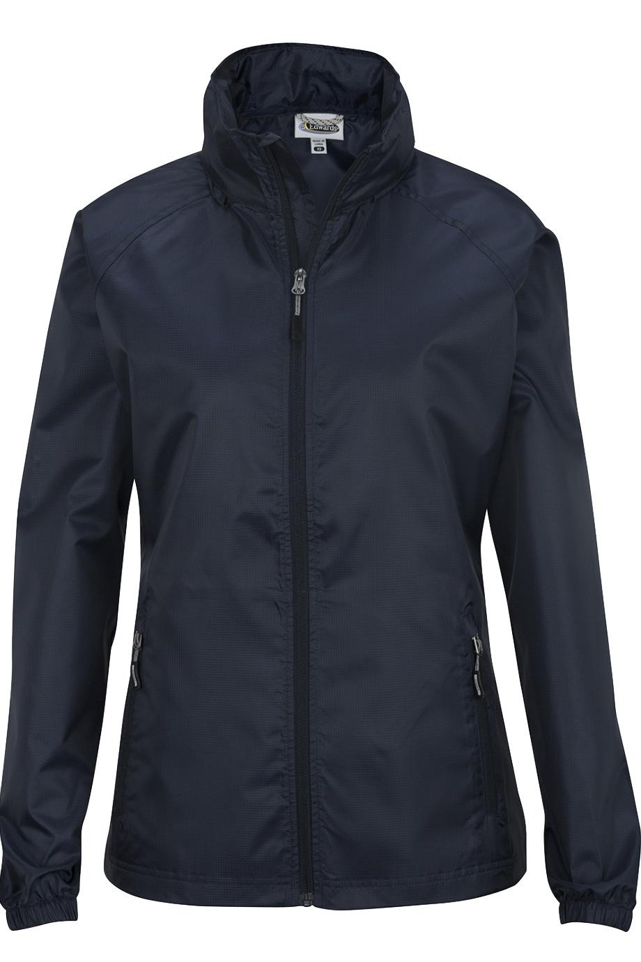 'Edwards 6435 Hooded Rain Jacket - Ladies''