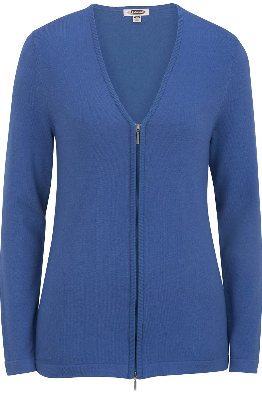 'Edwards 7062 Ladies' Full Zip V-Neck Cardigan Sweater'