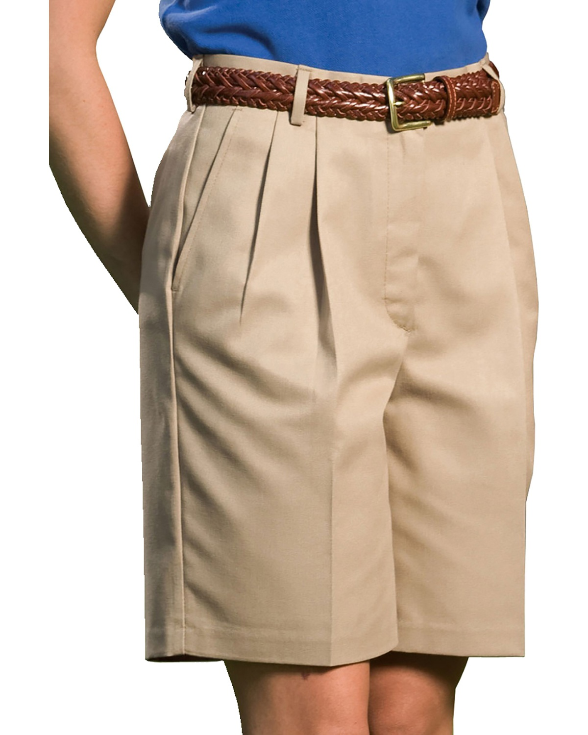 'Edwards 8419 Ladies' Business Casual Pleated Chino Short'