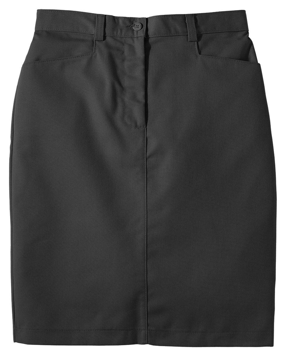 'Edwards 9711 Ladies Blended Chino Medium Length Skirt'