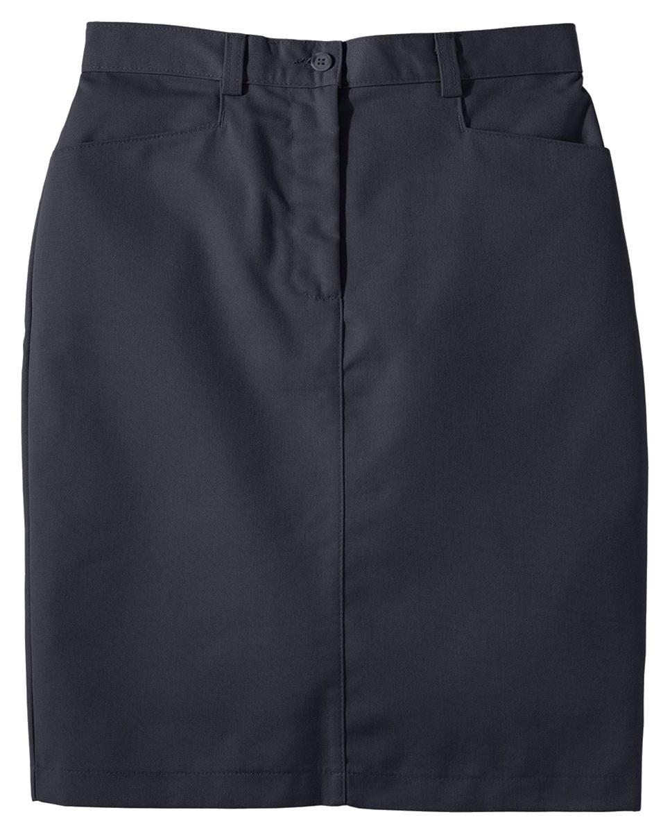 'Edwards 9711 Ladies' Blended Chino Skirt-Medium Length'