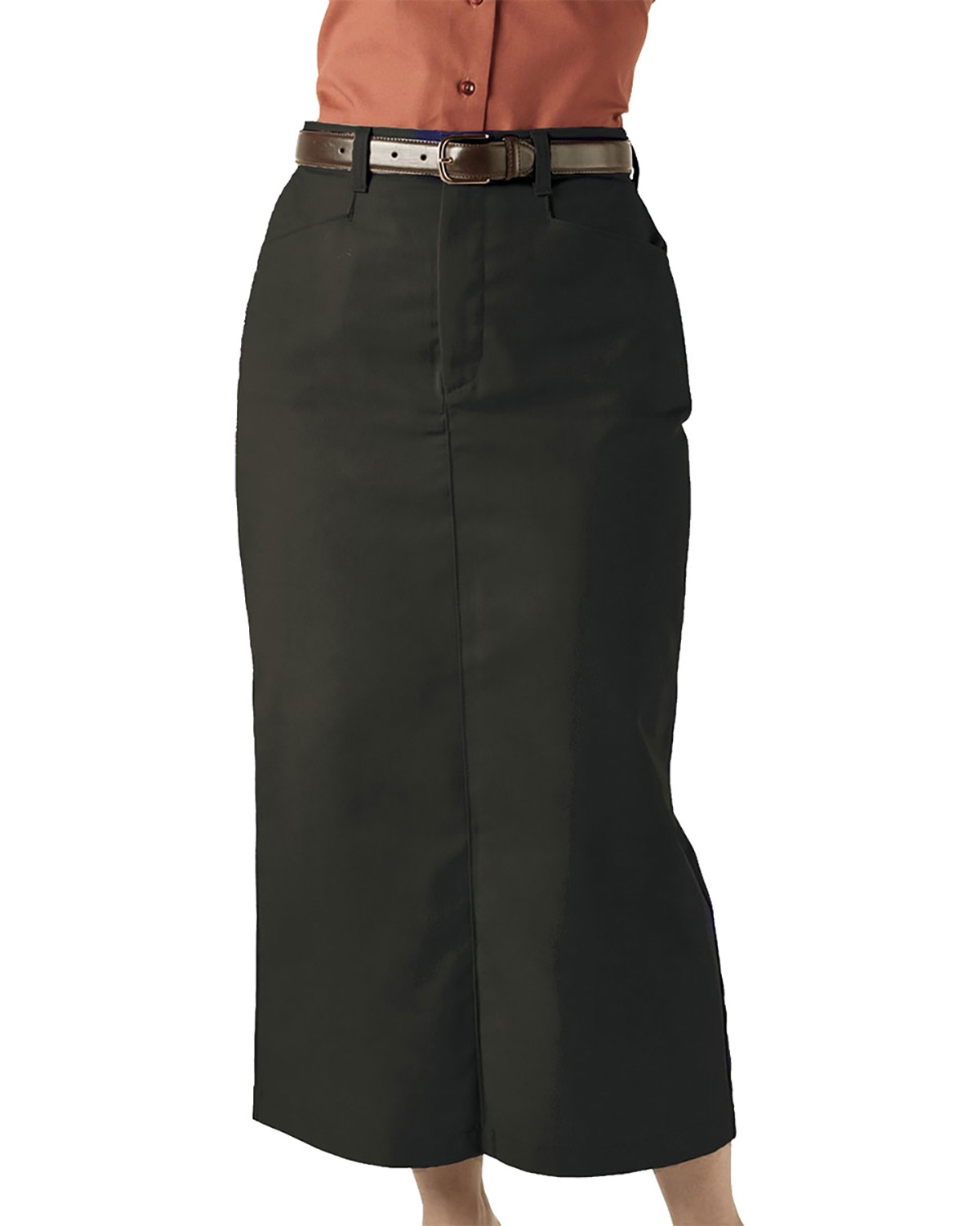 'Edwards 9779 Ladies' Blended Chino Skirt-Long Length'