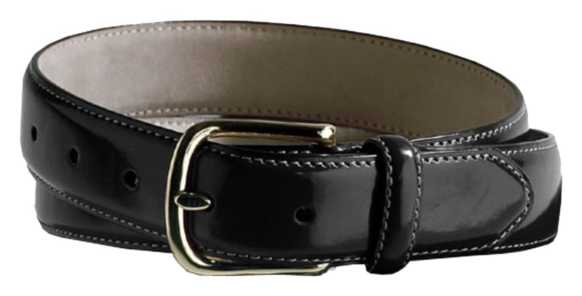 'Edwards BP00 Leather Dress Belt With Brass Buckle'