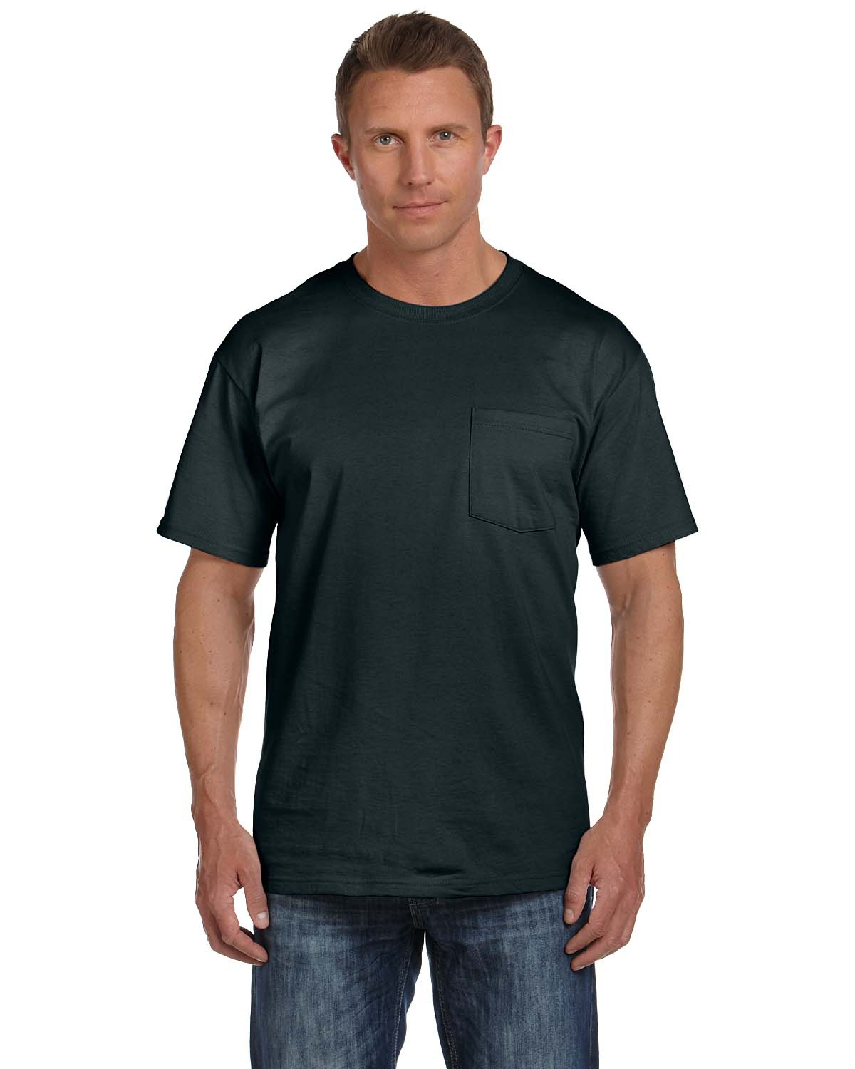 b039673b Fruit of the Loom HD Cotton Tee | 3931P Adult Pocket T-Shirt ...