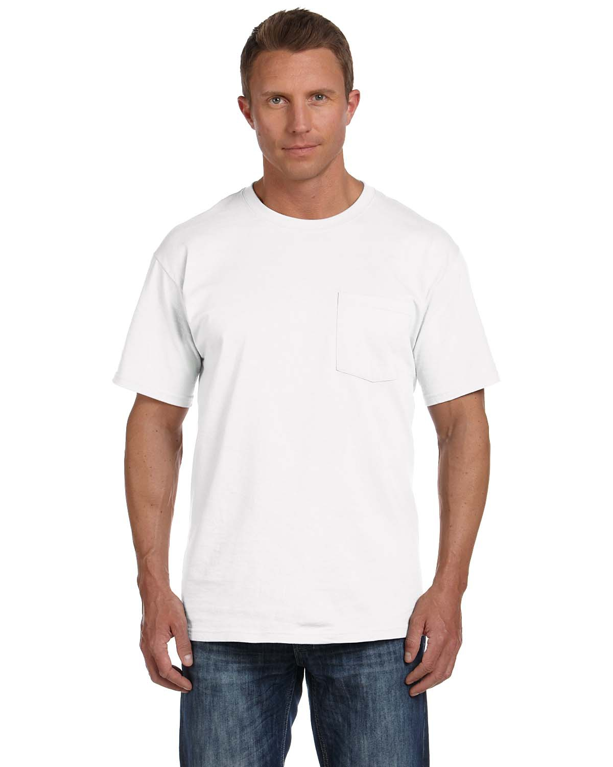 'Fruit of the Loom 3931P Adult Pocket HD Cotton T-Shirt'