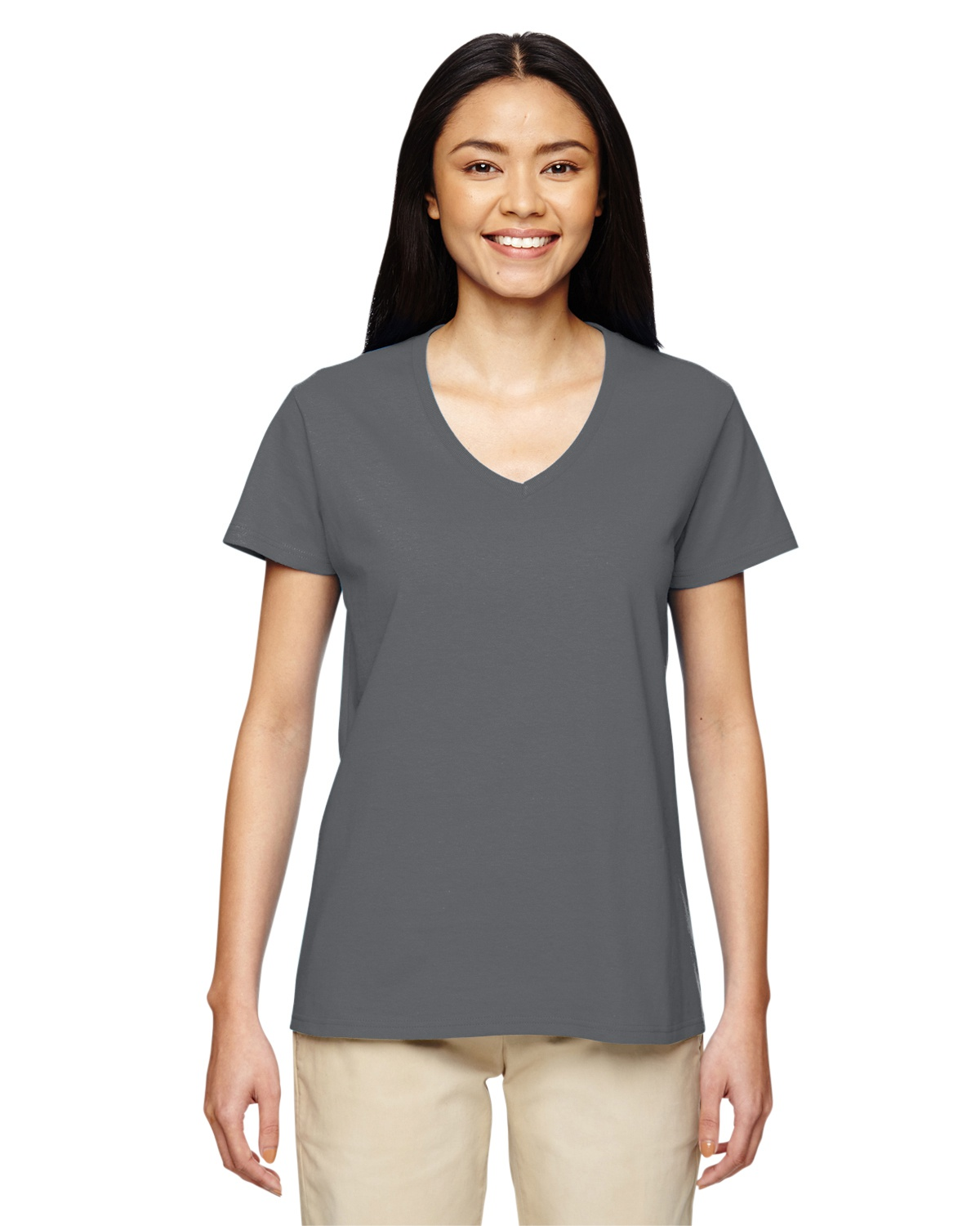 03ad40bc81 Gildan G500VL | Buy Ladies' V-Neck T-Shirt - VeeTrends.com