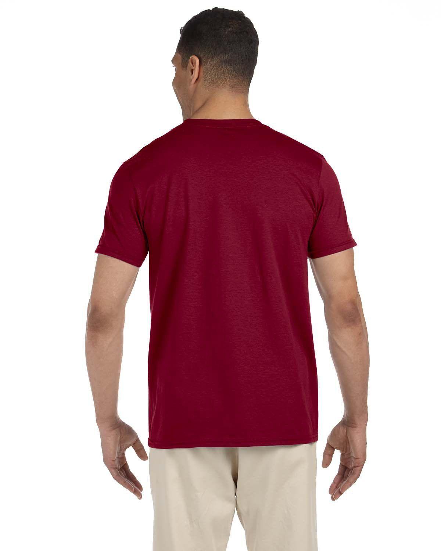 'Gildan G640 Adult Softstyle 3/4 Sleeve Double Needle Collar 4.5 oz T-Shirt '