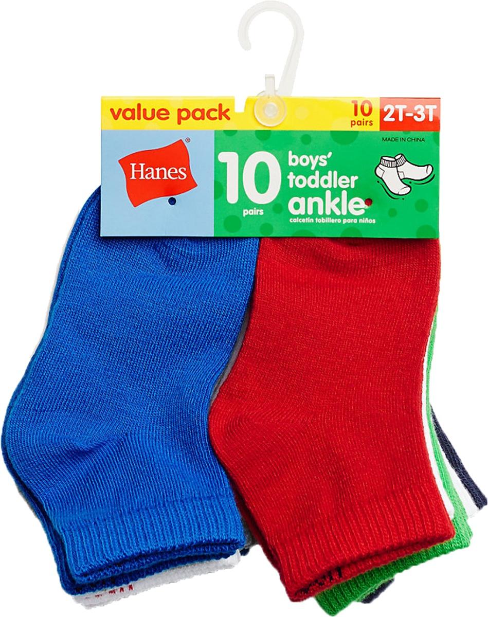 'Hanes 27/10 Boys' Infant/Toddler Ankle 10-Pack'