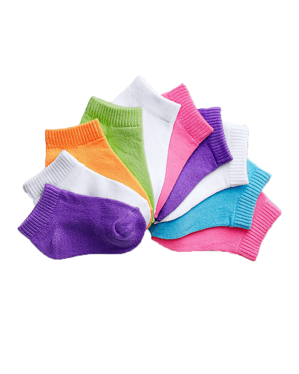 'Hanes 38/10 Girls' Infant/Toddler Low-Cut EZ Sort Assorted 10-Pack'