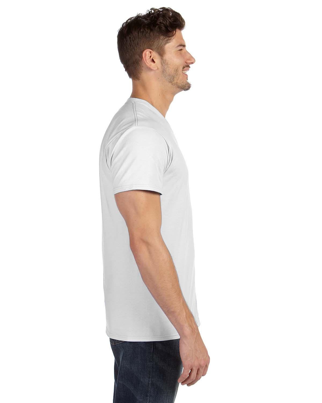 'Hanes 498V Adult nano Tee Ring Spun Cotton V Neck T-Shirt'