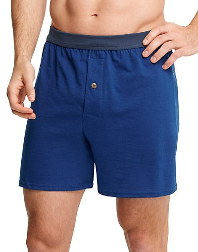 'Hanes MKCBX5 Men's TAGLESS ComfortSoft Knit Boxers with ComfortSoft Waistband 5-Pack'