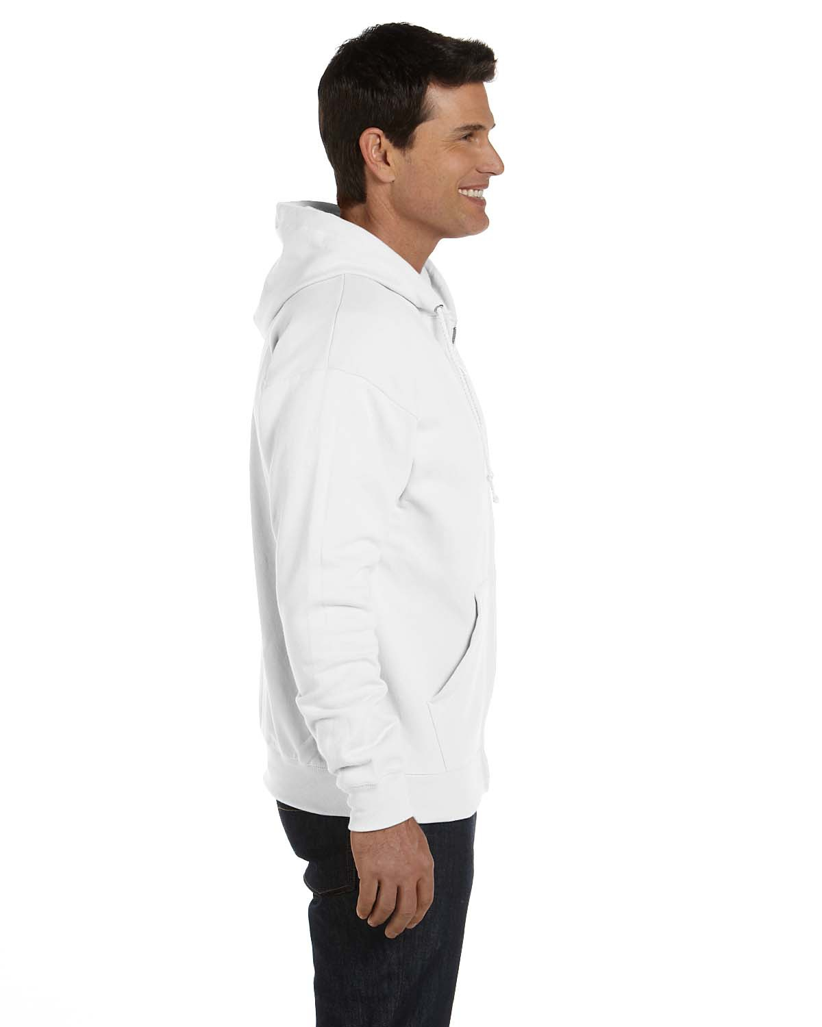 'Hanes P180 Adult Cotton Polyester EcoSmart Full Zip Hood'
